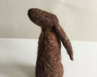 Handmade Needle Felted Hare