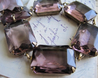 "Light purple statement necklace, chunky purple necklace, collet, Jane Austen, Anna Wintour. ""Summer Violets"""