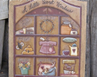 A Little Secret Window painted by Karen Gilbert for Painting with Friends. E-Pattern