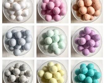 DIY Wedding Garland, LOOSE Felt Balls, DIY Wedding Decorations, Wool Felt Balls, Felt Crafts, Pom Poms, Chair Decor, Felt Ball Garland
