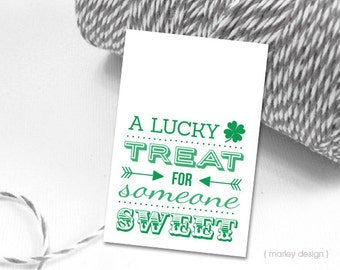 St. Patrick's Day Tags Printable Digital Download Saint Patrick's Day St. Patrick's Tags Favor Tags Gift Tags Shamrock Tags Green Tags