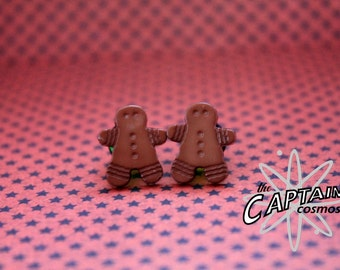Christmas gingerbread men man  plugs for gauged ears 8mm 0g stretched