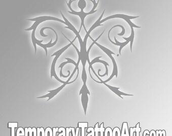 Fake Black Tribal Tattoo
