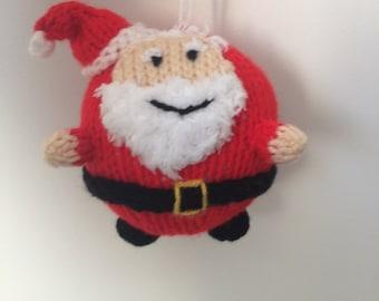 santa bauble knitting pattern christmas decoration pattern crochet amigurumi holidays decoration