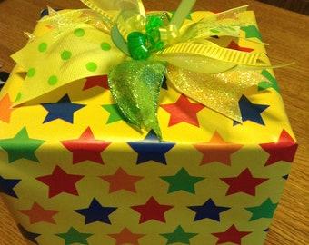 Fun Yellow and Green Gift Bow