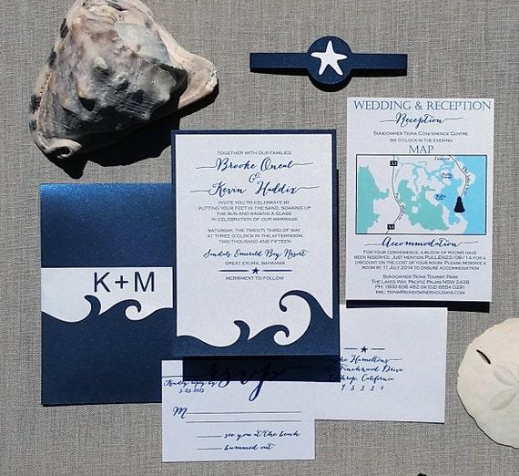 Items Similar To Beach Wedding Invitation