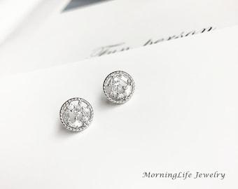 Sterling Silver Earrings, Everyday Earrings, Silver Stud Earrings, Bridesmaids Earrings, Minimalist Earrings, Gift for her