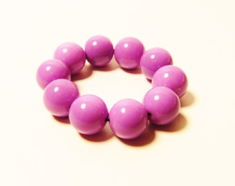 D-00956 - 10 Glass beads 8mm Lilac