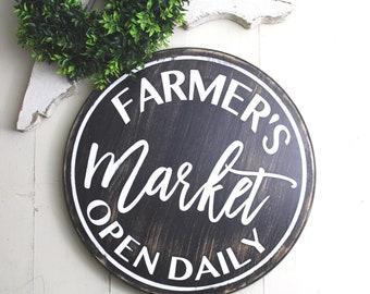 Farmers Market Sign | Farmers Market | Farmhouse Sign | Farmhouse Decor | Wood Sign | Kitchen Sign | Wood Farmhouse Sign |