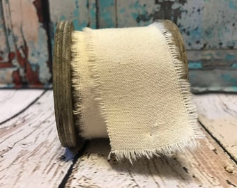 Muslin Ribbon, Spool Ribbon, Natural Muslin Ribbon