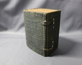 1880 Meiji Era Japanese Chinese Kanji Dictionary Woodblock Printed on Rice Paper