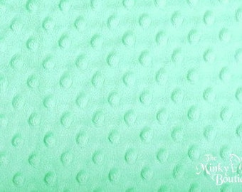 Minky Dot Fabric - Aqua