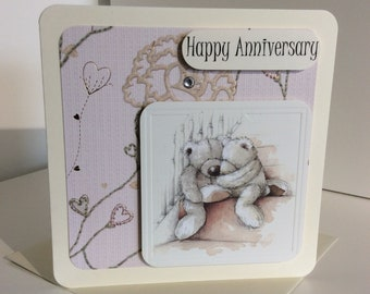 "Unique Handmade ""Happy Anniversary"" Card"