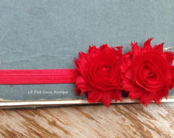 RED BABY Headbands, Baby Headband, Infant Headbands, Headbands for Babies, Red Headbands, Baby Girls headbands, Newborn Headbands, Newborn