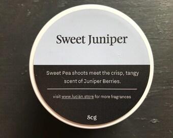 Sweet Juniper- Travel tin candle 4oz
