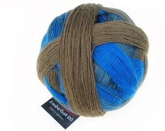 "Magic Ball 100 ""zone Aquatique"" Schoppel wool knit or crochet handmade"
