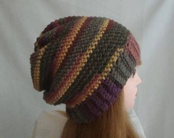 Slouchy Hat, Slouch Hat, Womens Slouch Hat, Womens Slouchy Hat, Winter Hat, Brown Slouch Hat, Yellow Slouchy Hat, Winter Slouch Hat