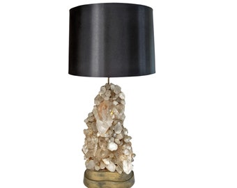 Carole Stupell Quartz Rock Crystal Lamp