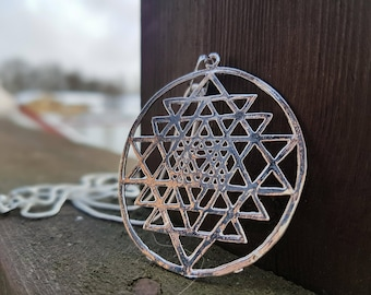 Merkaba Sacred Geometry Pendant with sterling silver chain