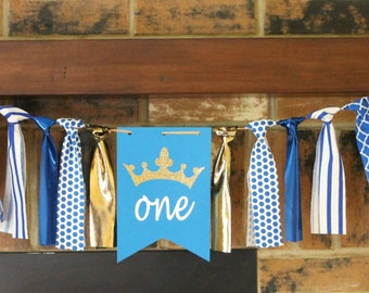 Prince Birthday Banner, Prince Birthday Garland, One Birthday Banner, One Prince Banner, Prince Birthday Party, Royal Prince Banner