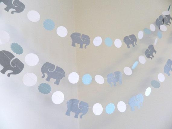 Lovely Elephant Baby Shower Decorations Boy / Blue Elephant Birthday