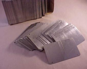 10 Silver Aluminum Metal Stamping Blanks