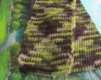 SCAR 012 Hand crochet wool scarf