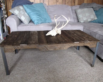 Industrial Pallet Coffee Table (Shipping Included)