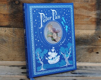 Book Safe - Peter Pan - Blue Leather Bound Hollow Book Safe
