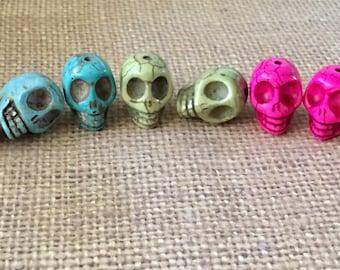 Skull Stone Beads Multi Colors