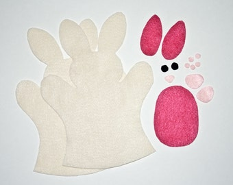 Bunny Hand Puppet in a Bag