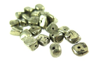 Smooth Pyrite Nugget Beads - (20x) NS601