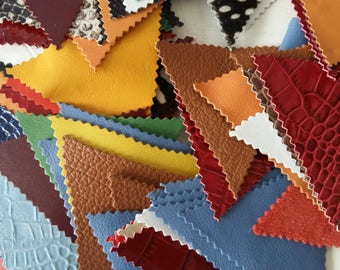 Triangle leather scraps