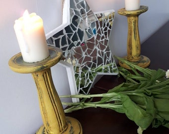 Shabby Chic candleholders. Made to order
