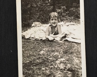 "Vintage Photograph, ""Nature Girl"", Black and White Photography, Antique Photo, Found Paper, Scrapbook Ephemera"