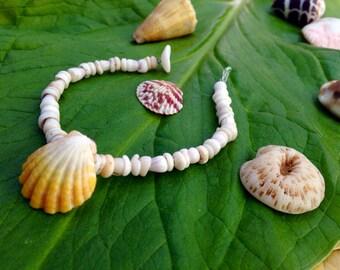 Puka Shell Bracelet - Hawaii Sunrise Shell Jewelry Cone Shell Beach Bracelet Kauai Puka Shell Bracelet Island Seashell Jewelry- Eco Friendly