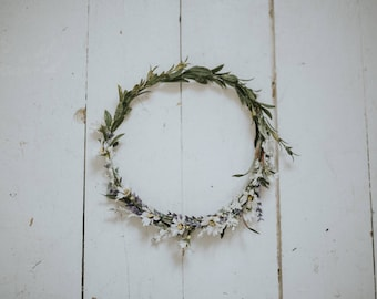 Lavender and Chamomile Herb Crown