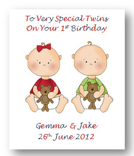 Personalised babies first 1st birthday card 2nd birthday card personalised babies first 1st birthday card 2nd birthday card son daughter twins triplets niece nephew grandson granddaughter m4hsunfo Choice Image