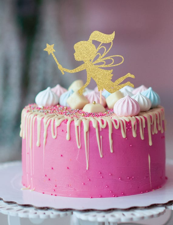 Fairy Cake Topper Wand Birthday Princess Party Decor