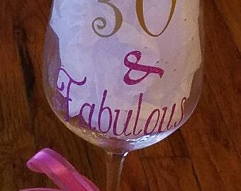 Birthday Wine Glass!!