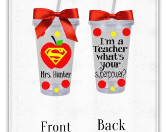 Personalized Teacher Cup, Great Gift! Guaranteed Delivery before Christmas!!