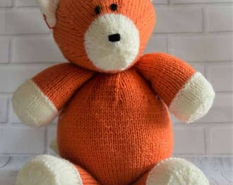 KNITTING PATTERN - Loxy the Fox Soft Toy Knitting Pattern Download From Knitting by Post