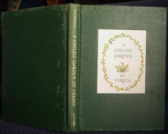 A Child's Garden of Verses, Robert Louis Stevenson, First Edition Illustrated by Tasha Tudor, Vintage 1947 Copy, Poems Poetry