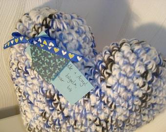 Heart Pillow crochet Pillow decoration sofa