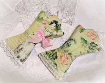 2 Jane Austen Dress Form Lavender Sachets, FREE USA SHIPPING, Pride and Prejudice, Book Club, Bridal Showers, Book Lover Gift, Favors