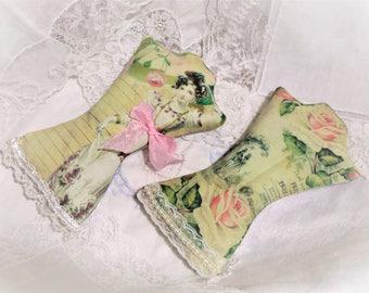 Jane Austen Lavender Sachets, Set of 2, Mothers Day Gift Jane Austen Gift, Pride and Prejudice, Bridal Favors, Book Lover, Free USA Ship