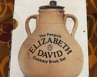 Vintage 5 book set of Elizabeth David Cookery book set; 1960's