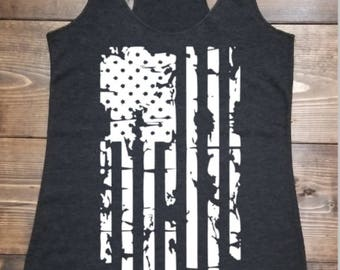 Work Out Tank, American Flag Tank, 4th of July shirt, Gym tank, Country Music tank, Concert Tank, Gift for her,