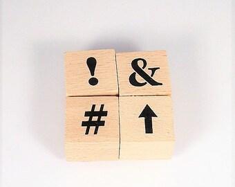 Mini  Rubber Stamp Set  - Symbol Set