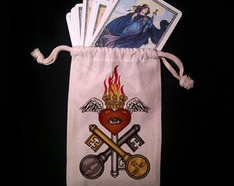 Key and Eye Tarot Bag -  Pagan Wiccan  - Brigid Ashwood